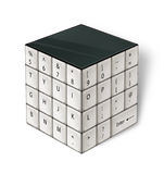Cube White Keyboard Stock Image