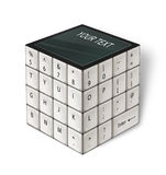 Cube White Keyboard Royalty Free Stock Images