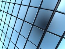Cube windows. Abstract blue cube windows frame background Stock Image
