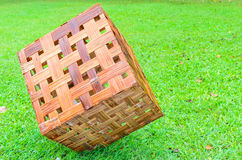 Cube wood lamp Stock Photography