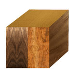 Cube with wood samples Royalty Free Stock Photo