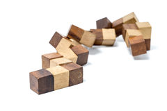 Cube wooden toy Royalty Free Stock Photography