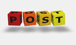 Cube word Post Royalty Free Stock Photo