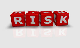 Cube word RISK Stock Photography