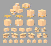 Cube World. Cardboard boxes Royalty Free Stock Photos