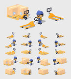 Cube World. Manual pallet truck Stock Photos