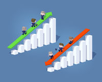 Cube World. Positive and negative graphs Stock Photo