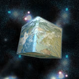 The cube world and stars Royalty Free Stock Photo