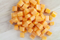 Cubed Carrots Royalty Free Stock Photo