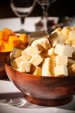 Cubed cheese Royalty Free Stock Image