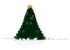 Cubed Christmas tree Stock Photography