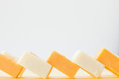 Cubed hard cheese Royalty Free Stock Image