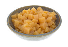 Cubed rutabagas in an old bowl Stock Photography