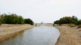 Cubelles-Fluss-Park, Foix-Fluss Stockbilder