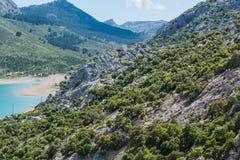 Cuber水库在山脉de Tramuntana,马略卡,西班牙 库存照片