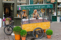 Cuberdons. candy cart. Ghent. Belgium Royalty Free Stock Photo