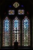 Cubert教会窗口3 |康沃尔郡 免版税图库摄影
