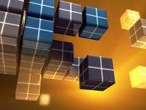 cubes данные иллюстрация штока