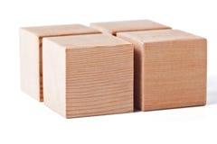 cubes деревянное Стоковое Изображение