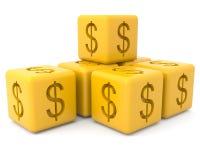 cubes знак доллара Стоковые Изображения