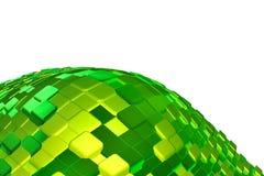 cubes изумруд много Иллюстрация вектора