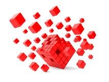 cubes красный цвет Стоковое Фото