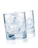 cubes льдед стекел Стоковое фото RF
