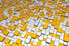 cubes металл золота Бесплатная Иллюстрация