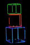 cubes неон Стоковые Фото
