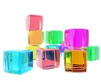 cubes разнообразность Стоковые Фото