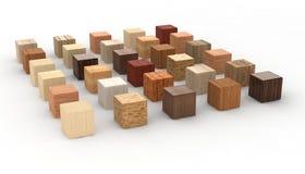 cubes древесина Стоковая Фотография