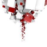 cubes сила тяжести Стоковая Фотография