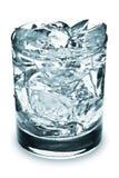 cubes стеклянный льдед Стоковое Изображение