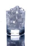 cubes стеклянный льдед Стоковая Фотография