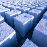 Cubes_1 concret photographie stock