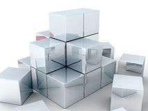 Cubes. Some blocks partly stacked together Royalty Free Stock Images