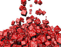 Cubes. A lot of cubes falling together Stock Illustration