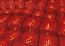 Cubes. 3d rendered image of Cubes with random height Royalty Free Stock Photos
