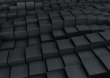 Cubes. 3d rendered image of Cubes with random height Royalty Free Stock Photo