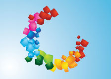 Cubes. Illustration of colorful beautiful cubes Stock Photo