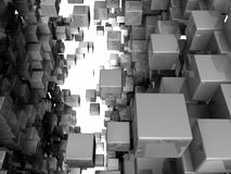 Among The Cubes Royalty Free Stock Images
