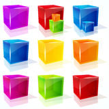 Cubes. Stock Images