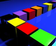 Cubes 2 Royalty Free Stock Image