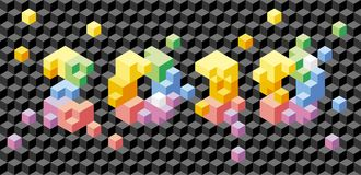 Cubes 2010: vector seamless background Royalty Free Stock Photos