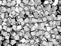 Cubes. Lots of solid 3D cubes Royalty Free Stock Photos