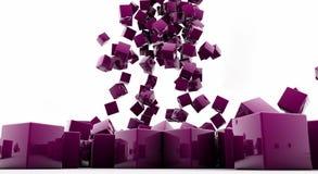 Cubes. Beyaz zeminde düşen küpler Royalty Free Stock Images