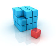 Cubes. Three dimensional illustration of Cubes royalty free illustration