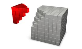 cubes 3d Photos libres de droits