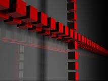 cubes 3d dans une ligne Photos stock