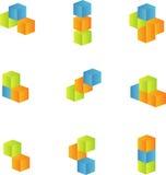 cubes 3d réglés Photos stock